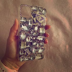 Purple rhinestone iPhone 11 case! 💎📲